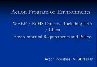 Action Program of Environments
