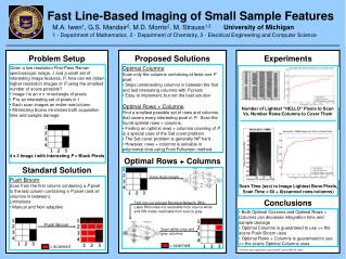 Fast Line-Based Imaging of Small Sample Features