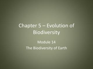 Chapter 5 Evolution