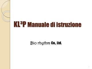 KL P Manuale di istruzione