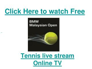Watch 2011 Malaysia Open Tennis| Marion Bartoli vs Lucie Saf