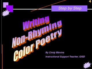 Writing  Non-Rhyming  Color Poetry