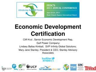 Economic Development Certification