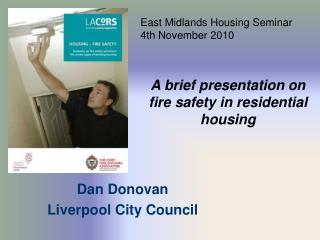 Dan Donovan Liverpool City Council