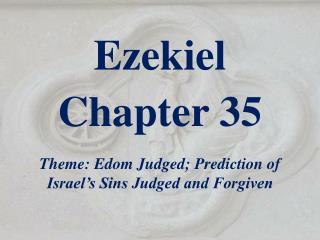 Ezekiel  Chapter 35