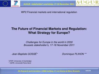 WP2 Financial markets and international regulation