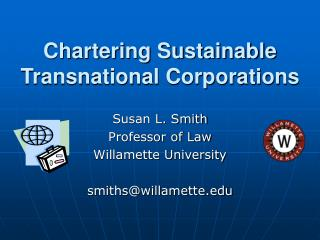 Chartering Sustainable Transnational Corporations