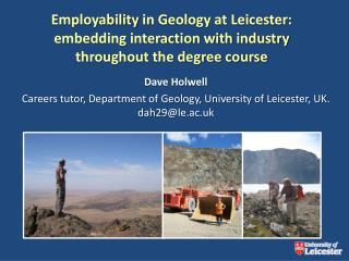 Employability in Geology at Leicester: embedding interaction with industry throughout the degree course