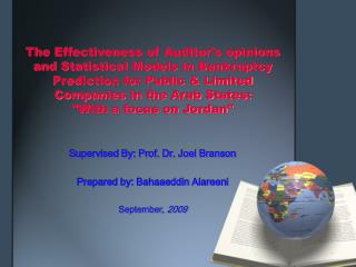 The Effectiveness of Auditors opinions and Statistical Models in Bankruptcy Prediction for Public  Limited Companies in