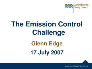 The Emission Control Challenge
