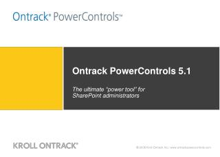 Ontrack PowerControls 5.1