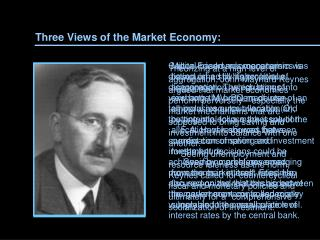Three Views of the Market Economy: