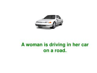 A man is driving in his car on the same road, but in the opposite direction.