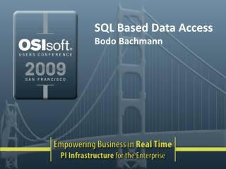SQL Based Data Access Bodo Bachmann