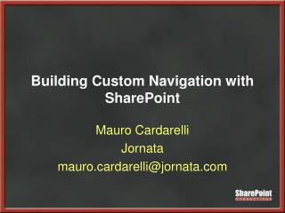 Building Custom Navigation with SharePoint