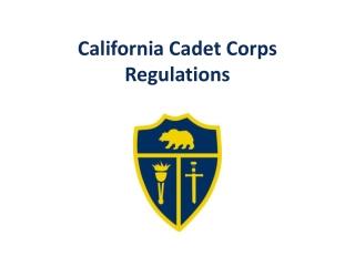 California Cadet Corps Regulations