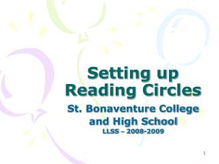 Setting up Reading Circles