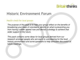 Historic Environment Forum