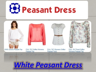 White Peasant Dress