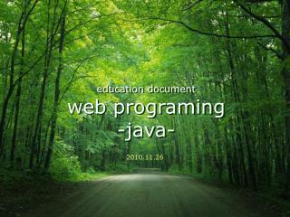 Education document web programing -java-
