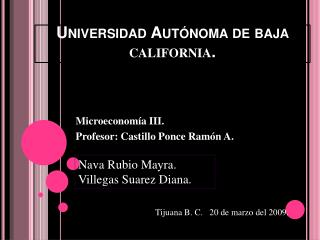 Universidad Aut noma de baja california.