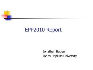 EPP2010 Report