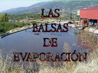 LAS BALSAS DE EVAPORACI N
