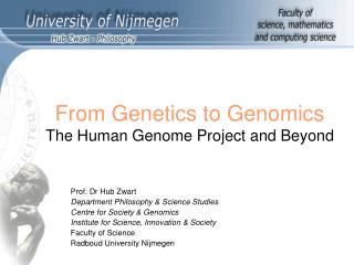 From Genetics to Genomics The Human Genome Project and Beyond
