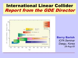 International Linear Collider Report from the GDE Director