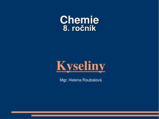 Chemie   8. rocn k