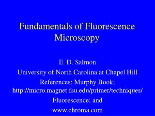 Fundamentals of Fluorescence Microscopy