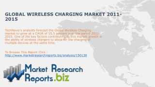 Global Wireless Charging Market 2011-2015