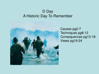 D Day A Historic Day To Remember