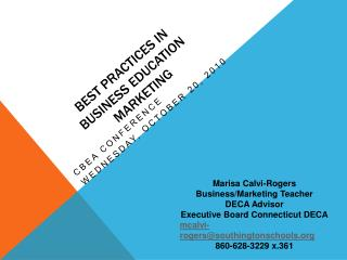 Best Practices in  Business Education Marketing