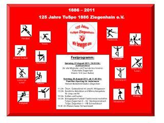 1886   2011  125 Jahre TuSpo 1886 Ziegenhain e.V.