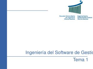 Ingenier a del Software de Gesti n