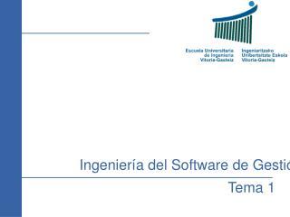 Ingenier a del Software de Gesti n