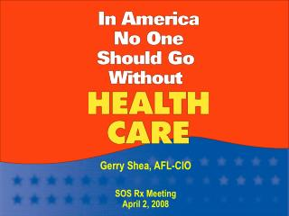 Gerry Shea, AFL-CIO