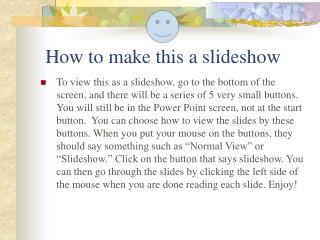How to make this a slideshow