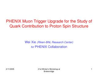 PHENIX Muon Trigger Upgrade for the Study of Quark Contribution to Proton Spin Structure
