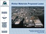 Rinker Materials Proposed Lease