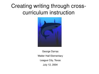 Creating writing through cross-curriculum instruction