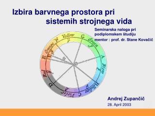 Izbira barvnega prostora pri sistemih strojnega vida