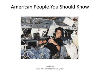 American People You Should Know
