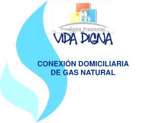 CONEXI N DOMICILIARIA  DE GAS NATURAL