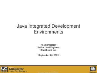 Java Integrated Development Environments