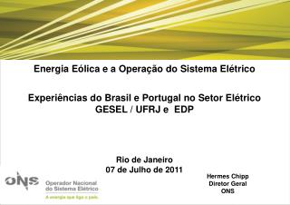 Energia E lica e a Opera  o do Sistema El trico  Experi ncias do Brasil e Portugal no Setor El trico GESEL