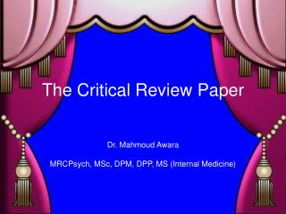 The Critical Review Paper