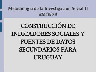 Metodologia de la Investigaci n Social II M dulo 4