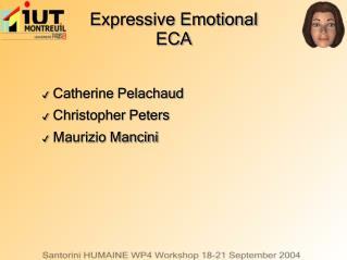 Expressive Emotional ECA